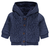 George Cable Knit Hooded Cardigan