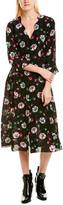 Anna Sui Ballerina Silk A-Line Dress