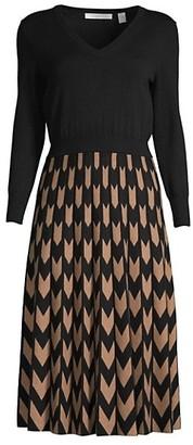 HUGO BOSS Fetra Contrast Knit Dress