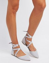 Charlotte Russe Ankle-Tie D'Orsay Flats