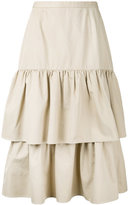 CITYSHOP tiered mid-length skirt - women - Cotton - 36
