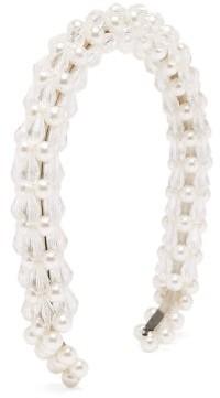 Shrimps Shelly Bead And Faux Pearl Headband - White