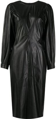 Isabel Marant High-Shine Midi-Dress