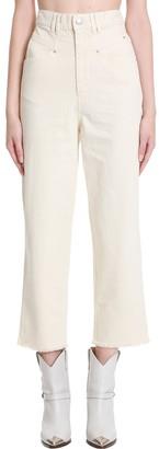 Isabel Marant Naliska Jeans In Beige Denim