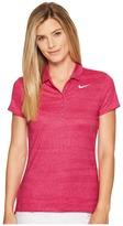 Nike Precision Zebra Print Polo Women's Short Sleeve Pullover