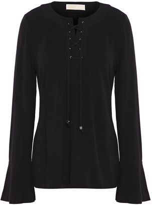MICHAEL Michael Kors Lace-up Jersey Top