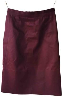 Celine Burgundy Cotton Skirt for Women