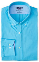 Izod Blue Button-Down Collar Slim Fit Dress Shirt