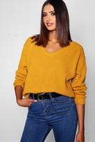 boohoo Tall Oversized V Front Sweater