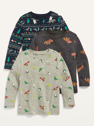 Old Navy Long-Sleeve Printed Tee 3-Pack for Toddler Boys