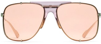 Gucci Square Aviator-Frame Sunglasses