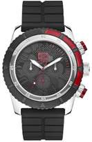 Ecko Unlimited Unisex Quartz Watch with Black Dial Analogue Display and Black Silicone Strap E16525G1