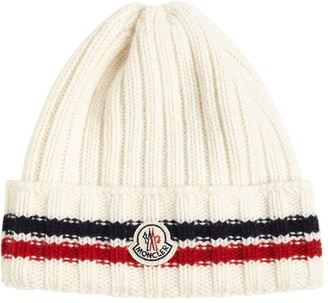 Moncler Wool Knit Beanie W/ Logo