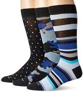 Steve Madden Men's 3pk Premium Fashion Crew-Camo Dot Stripe