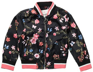 Urban Republic Floral Sateen Bomber Jacket (Toddler & Little Girls)