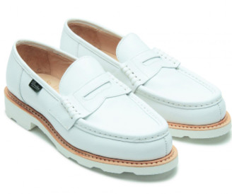 Paraboot White Orsay Moccasins Shoes - 3