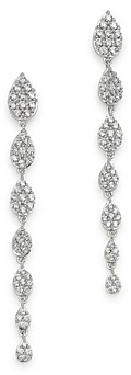 Bloomingdale's Pave Diamond Graduated Drop Earrings in 14K White Gold, 1.0 ct. t.w. - 100% Exclusive