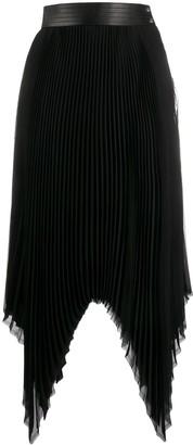 Loewe Pleated Asymmetric Skirt