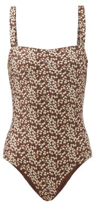 Matteau The Square Floral-print Swimsuit - Brown Print