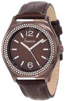 Freelook Women's HA1213B-2 Sunray Brown Dial Swarovski Bezel Watch