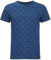 Universal Works Cross Jersey Print Tshirt - Blue