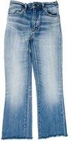Saint Laurent Cropped Distressed Jeans