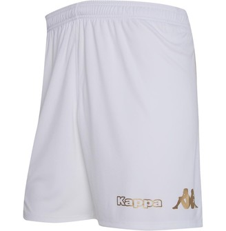 Kappa Mens Angers SCO Kombat Home Shorts White/Yellow Gold