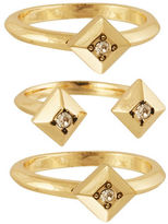 House Of Harlow 1960 The Lyra Goldtone Stackable Ring Set