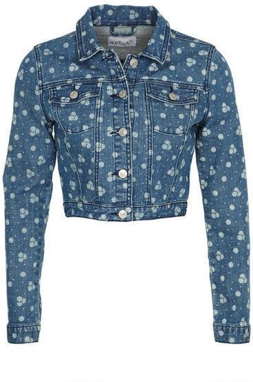 Delia's Pin Dot Floral Jacket