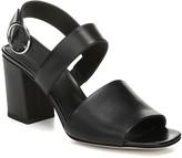 Via Spiga Evelyne Leather Block Heel Sandal