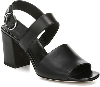 Via Spiga Evelyne Leather Block Heel Sandal
