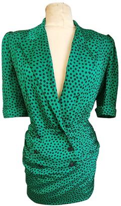 Jean Louis Scherrer Jean-louis Scherrer Green Silk Dress for Women