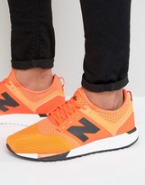 New Balance Sport Pack 247 Trainers In Orange