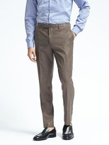 Banana Republic Standard Brown Windowpane Wool Suit Trouser