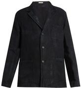 Massimo Alba Baglietto single-breasted linen blazer