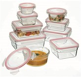 Glasslock 9 Piece Oven Safe Tempered Glass Container Set