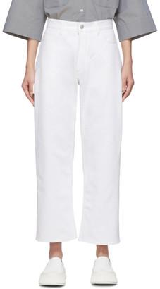 Studio Nicholson White Ruthe Cropped Jeans