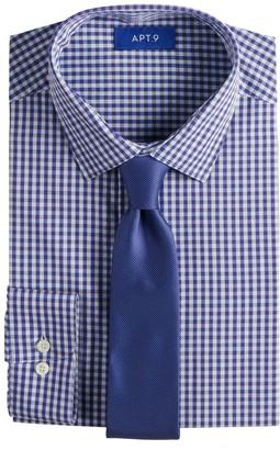 Apt. 9 Men's Slim-Fit Spread-Collar Dress Shirt & Tie Set
