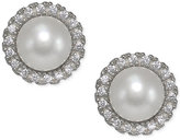 Giani Bernini Freshwater Pearl (6mm) & Cubic Zirconia Stud Earrings in Sterling Silver, Only at Macy's