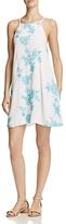 Aqua Embroidered A-Line Dress - 100% Exclusive