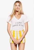 Wildfox Couture Above Sunset Classic V-Neck in Clean White