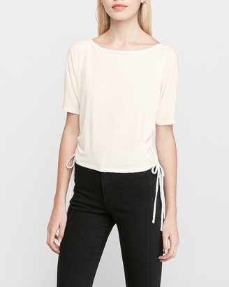 Express Ruched Dolman Sleeve Top