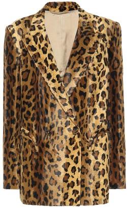 BLAZÉ MILANO Everyday leopard-print velvet blazer