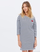 Maison Scotch Three-Quarter Sleeve Sweat Dress