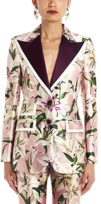 Dolce & Gabbana Floral Print Single Breasted Blazer