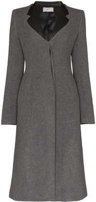 Coperni Faux Leather-Trimmed Lapel Coat