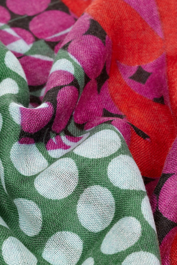 We Are Owls Ride Fast printed cashmere and silk-blend scarf