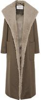 Max Mara Hooded Cashmere And Shearling Coat - Gray