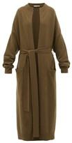 Extreme Cashmere - No.105 Big Coat Stretch-cashmere Cardigan - Womens - Dark Khaki