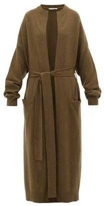 Extreme Cashmere - No.105 Big Coat Stretch-cashmere Cardigan - Dark Khaki
